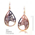 Yellow gold animal earrings 24