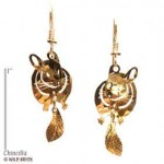 Yellow gold animal earrings 26